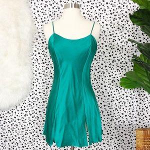 Victoria's Secret Green Silk Chemise Nightie Slip